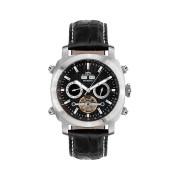 【86%OFF】420-H Skyray Stahl schwarz クッション ウォッチ ブラック/シルバー ファッション > 腕時計~~メンズ 腕時計