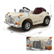 Happy Kids Classic Vintage Ride-On Car with Remote Control, Beige