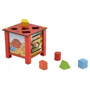 Skillofun Wooden Multi Activity Box, Multi Color