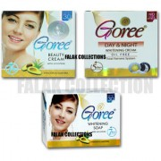Goree Whitening Beauty Cream + Goree Day and Night Cream + Goree Soap
