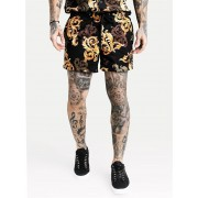 Sik Silk Venetian Swim Shorts Black/Gold XL