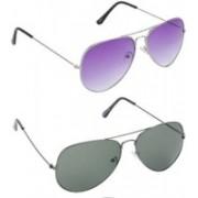DEVEW Aviator Sunglasses(Violet, Grey)