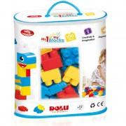 Set de construit primele cuburi Dolu, 100 piese, margini rotunjite, 1 an+, Multicolor