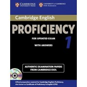 Cambridge English Proficiency 1 for Updated Exam Self-Study Pack (Student's Book with Answers and Audio CDs (2)): Authentic Examination Papers from Ca, Paperback