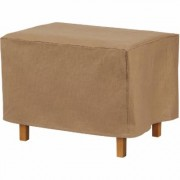 Classic Accessories Duck Covers Essentials 52Inch Rectangular Patio Ottoman/Side Table Cover - Latte, Model EOT523018
