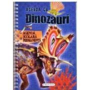 Agenda cu dinozauri. Agenda scolara permanenta