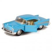 Blue 1957 Chevy Bel Air Die Cast Toy With Pull Back Action