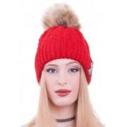 Червена зимна шапка Mear