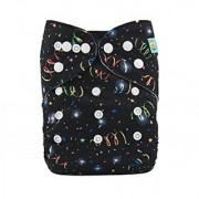 Tinytots Bamboo All In One Reusable Washable One Size Cloth Diaper - Glitters