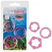 Island Rings Pink Set of 3