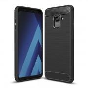 Karbonfiberskal / karbonfiberfodral för Samsung Galaxy A8 Plus 2018