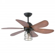 Light with a cage design- ceiling fan Chicago