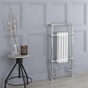 HudsonReed Sèche-serviettes rétro - Blanc - 93cm x 45cm x 15,5cm - Elizabeth