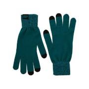 Gebreide handschoenen - groenblauw - L/XL - Groen
