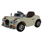 Getbestâ® Kids Ride On Car With Battery & Remote Control - 2-Piece Beige