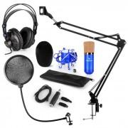 CM001BG Set Microfono V4 Cuffie Condensatore Adattatore USB Braccio Anti-Pop