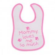 Bavetica impermeabila cu scai Baby Bib Mam Pink