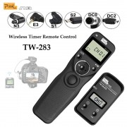 Pixel TW-283 Wireless Timer Remote Control Shutter Release (DC0 DC2 N3 E3 S1 S2) Cable For Canon Nikon Sony Camera TW283 VS RC-6