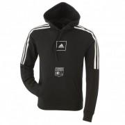 adidas Sweat à capuche noir bandes blanches adidas homme - L OL - Foot Lyon