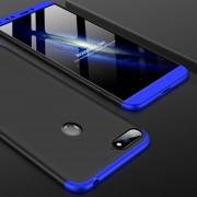 GKK Empalme Tres Etapa Plena Cobertura PC Case Para Huawei Honor 7a / Y6 (2018) (negro + Azul)