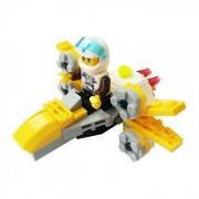 particulas de bricolaje ensamblado de ala x juguete educativo bloque de construccion de combate