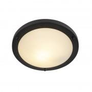 QAZQA Modern ceiling lamp black IP44 - Yuma 31