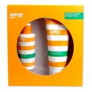 Benetton Energy Woman Gift Set EDT Spray 100ml + Shower Gel 200ml