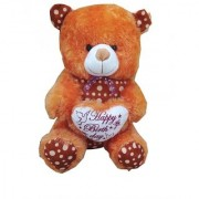 Suraj baby soft toy just for you and i love u heart teddy with checks 60cm