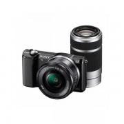 Aparat foto Mirrorless Sony Alpha A5000 20.1 Mpx Black Kit SEL 16-50mm si SEL 55-210mm
