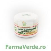 Crema de intretinere cu extracte de aloe si galbenele 50 ml Abemar Med
