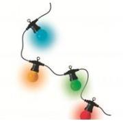 Home LED-es gömb fényfüzér színes, kültéri (LPL 10)