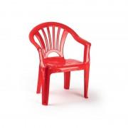 Merkloos Kinderstoelen rood kunststof 35 x 28 x 50 cm