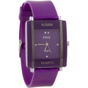 i DIVAS Shreee Kawa Purple Color With Rectangular Crystal Studded Dial Watch For Women