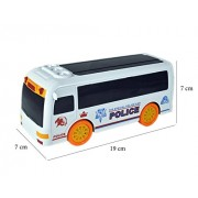 Babysid Collections Police Bus Toys for Boys Kids Baby Musical Toy Bump and Go Colorful Lights and Music Size : 19 x 7 x 7 cm