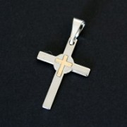 Steel Crucifix Pendant Redondo Center