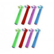 James Zhou 8-pack färgglada kompatibla tandborsthuvud till Oral-B, 4 olika färger
