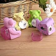 DollsnKings Teddy Bear Eraser and Sharpener (Pack of 6)