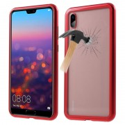 Huawei P20 Pro Magnetic Case with Tempered Glass Back - Red