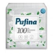 Servetele, 1 strat, 30 x 30cm, alb, 100 buc./pachet, PUFINA Soft
