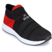 Refoam Men's Black Red Flyknit Running Sports Shoe