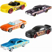 Set 5 masinute Hot Wheels Flames