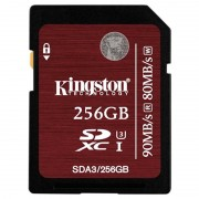Cartão de Memória SDXC Kingston - 256GB
