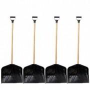 Pachet 4 bucati Lopata din plastic cu coada si maner