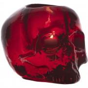 Kosta Boda Still Life Skull Ljuslykta Röd