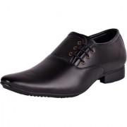 OORA Men's Formal Black Colour Faux Leather Lace-Up Dress Shoes