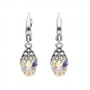 Srebrne kolczyki z kryształami Swarovski K 1957 : Kolor - Crystal AB