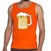 Shoppartners Oranje Het is oranje en wil bier tanktop/mouwloos shirt heren