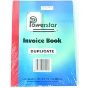 Powerstar A5 Invoice Book 100 Leaves, Retail
