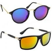 Tazzx Cat-eye, Wayfarer Sunglasses(Blue, Red)