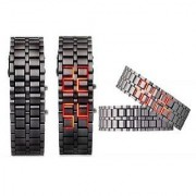 Stainless Steel LED Bracelet Watch for Men A 6 month warranty